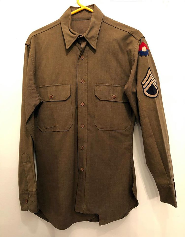 Sgt. Bill Hilton Sr. Wool Shirt 9th Infantry Division In WWII