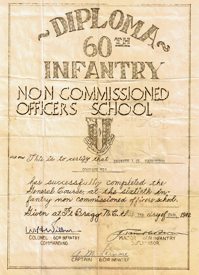 William Warburton's Diploma
