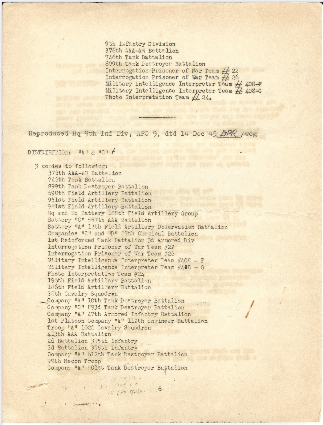 Belgian Fourragère WWII document