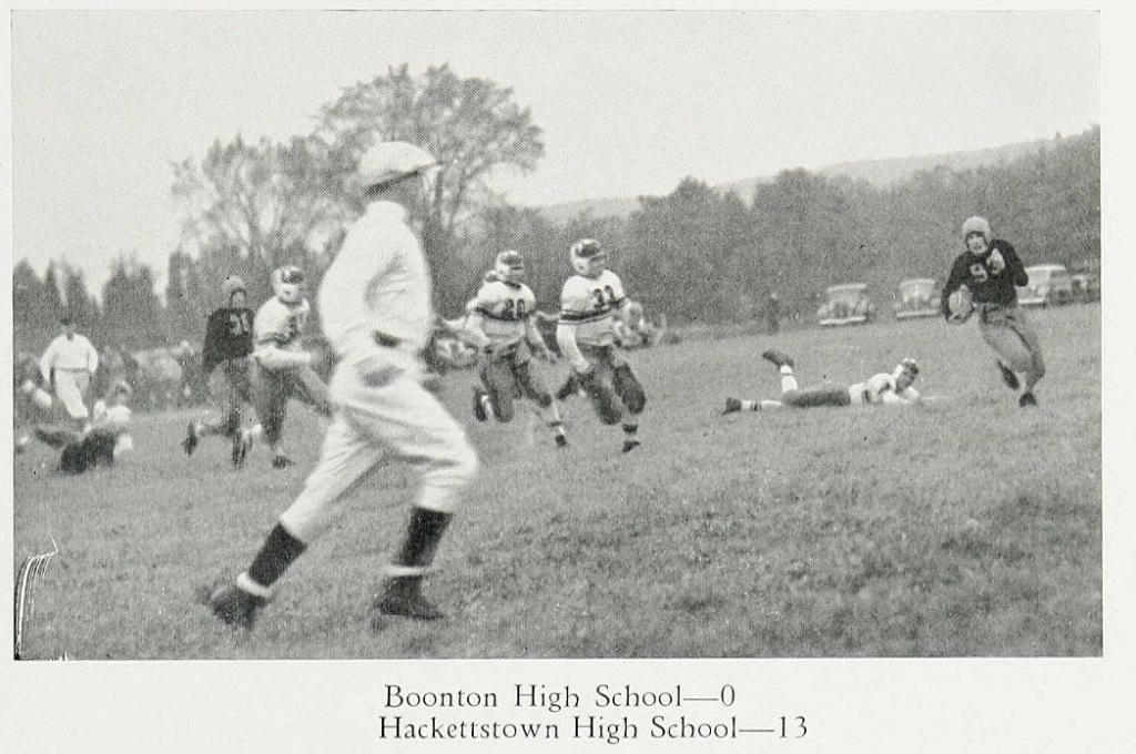 Bruce Schmeal #93 1937 vs. Boonton