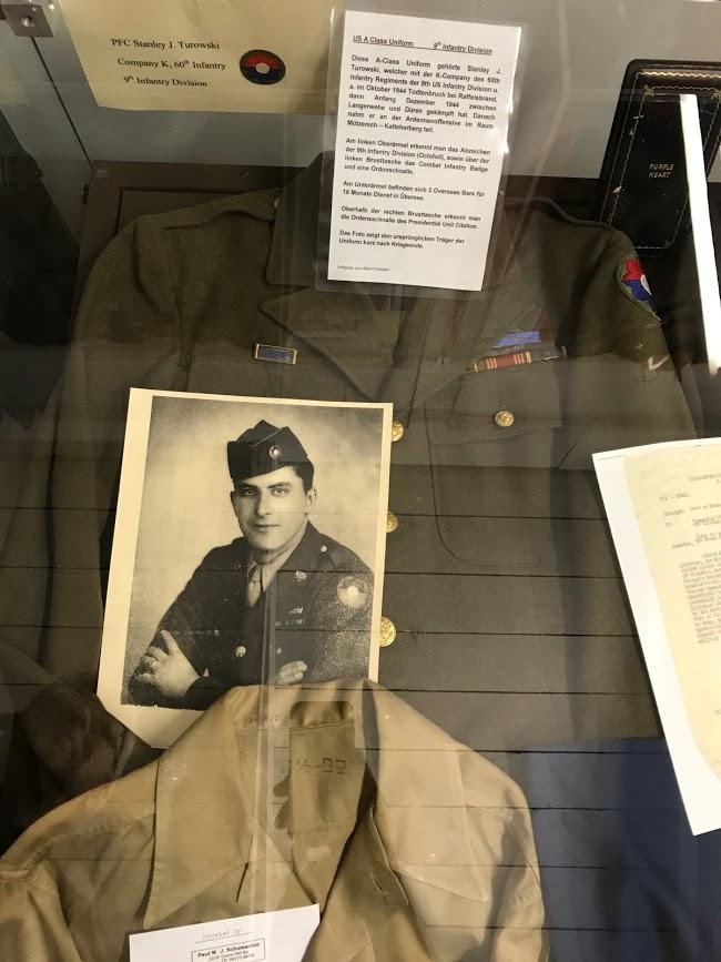 Stanley Turowksi's dress uniform display Vossenack Museum, Germany.
