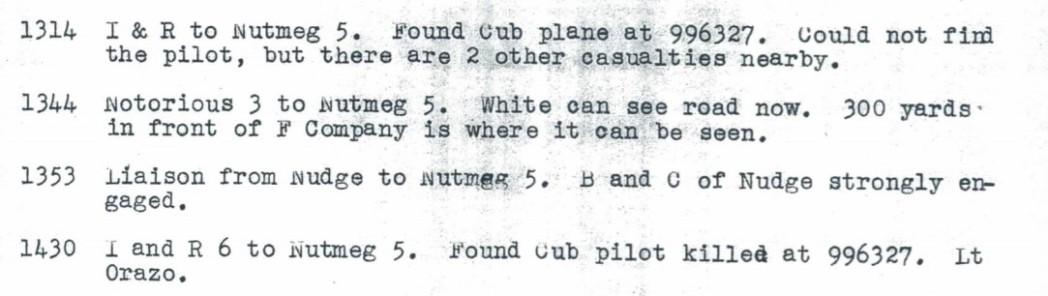 Cub Plane found 12 October 1944