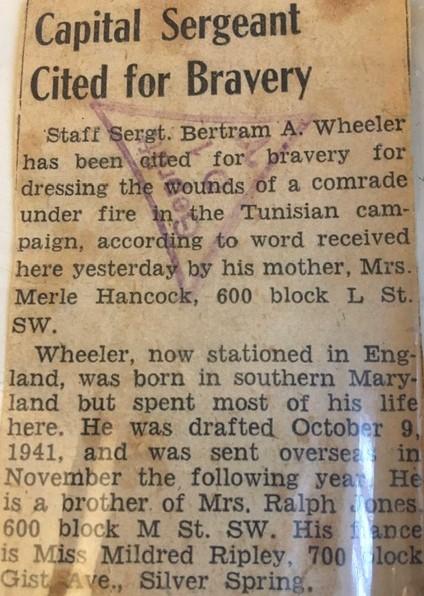 Bertrum Wheeler Newspaper