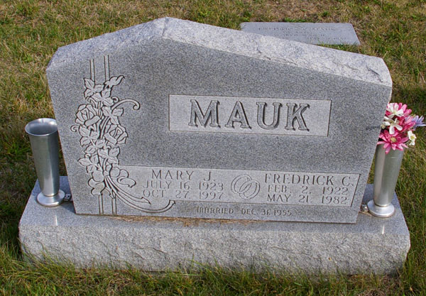 Fred Mauks final resting place.