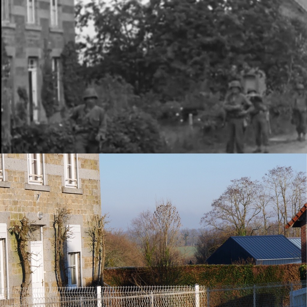 6. GIs start walking back on Rue de Commerce towards the junction at the church in order to move towards Lonlay-le-Tesson.