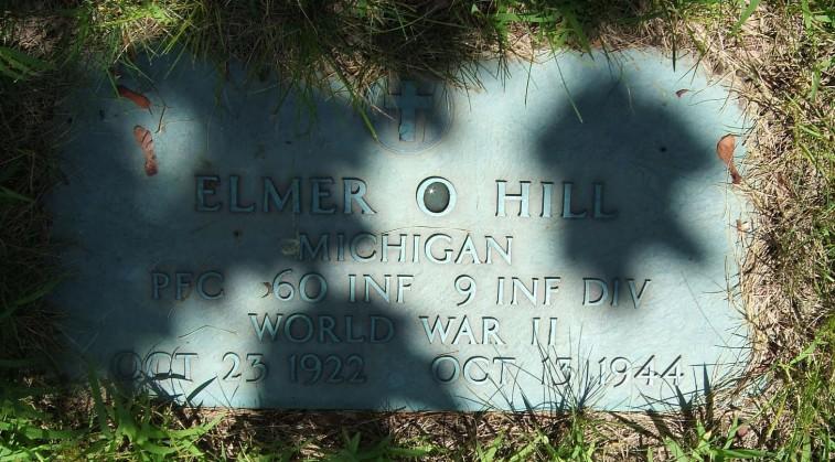 Elmer Hill burial plaque