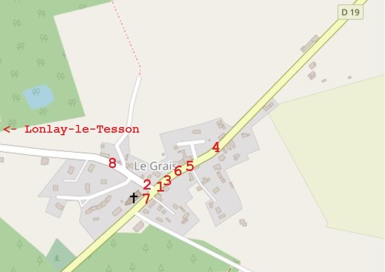 39th Infantry Regiment Le Grais Normandy map