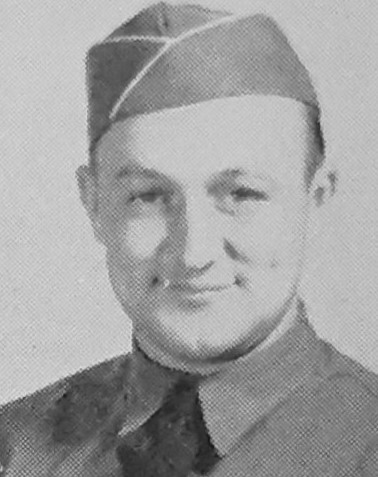 Theodore Herrmann pictured in the 1941 Fort Bragg Yearbook.